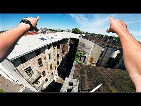 Skaczę po dachach w Krakowie - z dachu na dach - Rooftopping POV