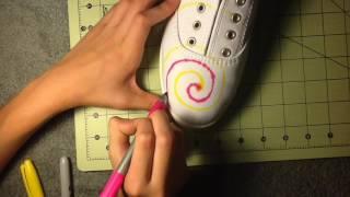 fun DIY! Sharpie Ti-Dye shoes!
