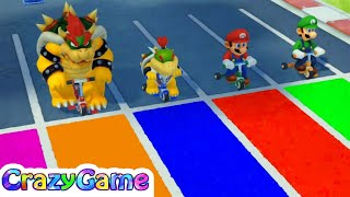 Super Mario Party - Trike Harder w/ other Minigames Gameplay