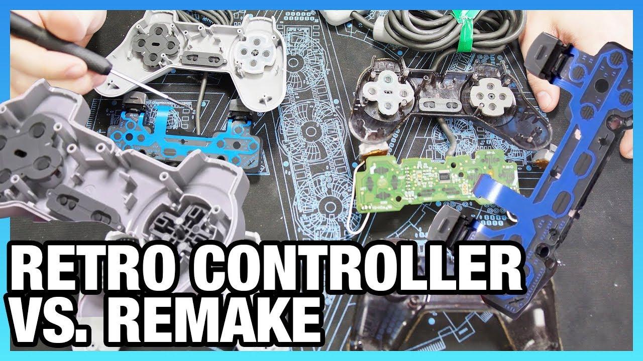 PlayStation Classic Controller Tear-Down vs  PS1 Original