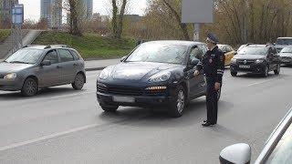 """""""Порш Кайен"""" арестовали на дороге за 500 000 долга. Real video"""