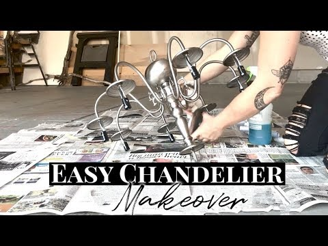 Simple Fixer Upper Style Chandelier Makeover