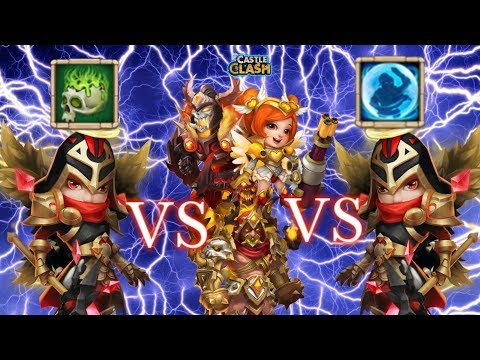 Castle Clash Corrode Michael Vs Bulwark Michael_ Against SK_Grimfiend_ Heartbreaker