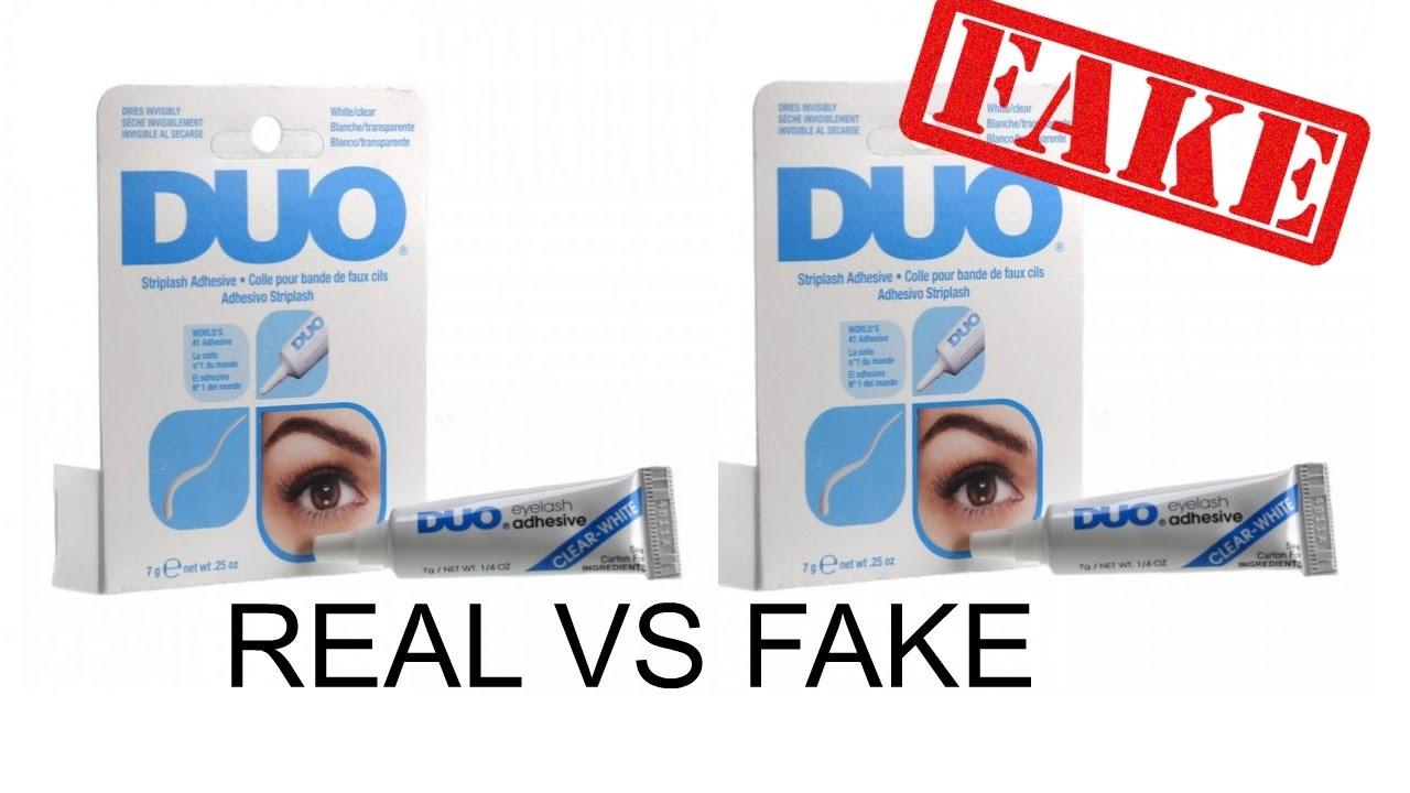 ae3e5a9e62e REAL VS FAKE DUO GLUE - YouTube