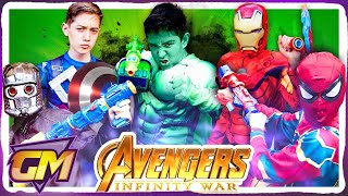 Avengers Infinity Nerf War - Avengers Kids Vs Thanos!