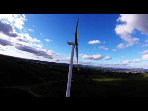 fpv freestyle, 120m dive and surfing at the wind turbine farm lancashire