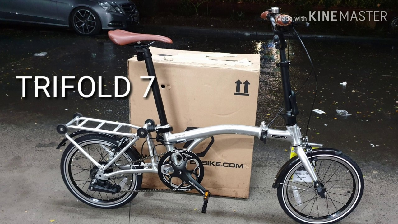 TRIFOLD 7 SPEED 2019 sepeda lipat mirip BROMPTON YouTube