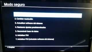 Modo seguro (mode recovery) PlayStation 4