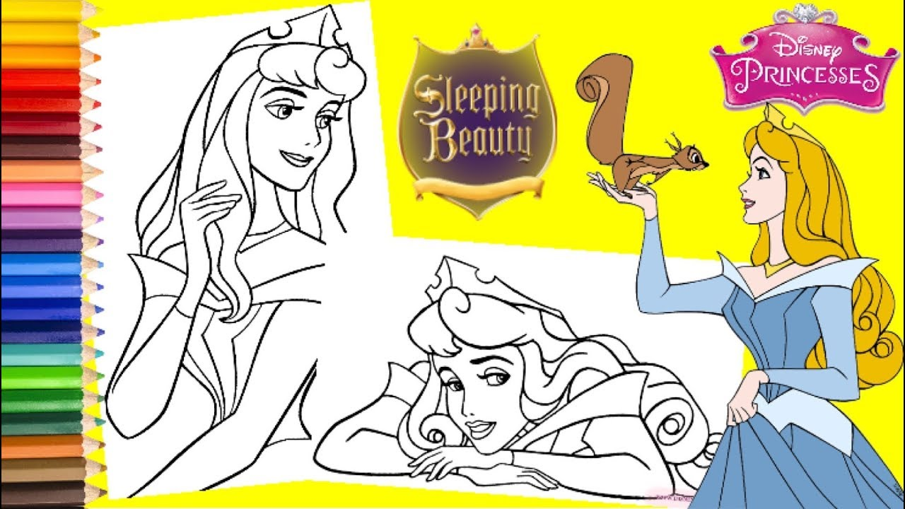 Sleeping Beauty Coloring Pages Coloring Pages Princess Sleeping ... | 720x1280