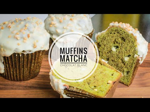 Muffins au Thé MATCHA et chocolat blanc