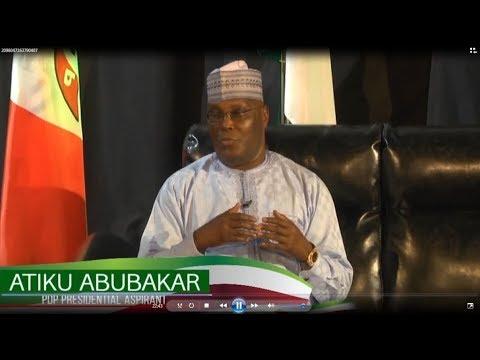 Atiku Abubakar Presidential Nomination Media Chat