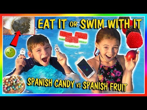 EAT IT OR SWIM WITH IT | CANDY VS FRUIT | We Are The Davises
