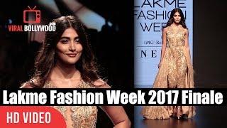 Pooja Hegde Ramp Walk At Lakme Fashion Week Winter Festive 2017 | Grand Finale