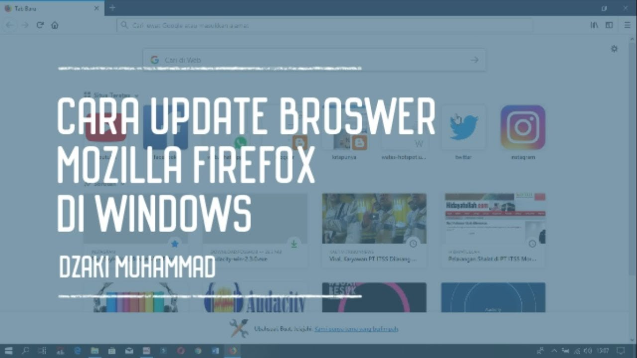 Cara Mudah Update Mozila Firefox Di Laptop Hanya 1 Menit Youtube