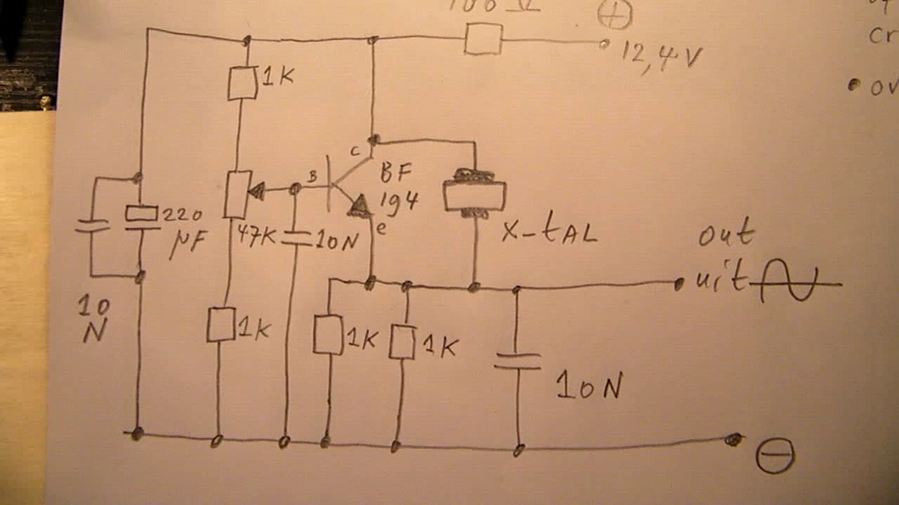 Pretty Sine Wave Oscillator Circuit Diagram Images Trianglewave Generator 1 Tradeoficcom Wire Simple Using Transistor Quartz Crystal For Certain Crystals 16 Mhz