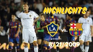 HIGHLIGHTS: LA Galaxy vs. FC Barcelona | August 1st, 2009 at the Rose Bowl