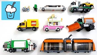 learning street vehicles name and sound for kids with lego レゴ marvel animal characters
