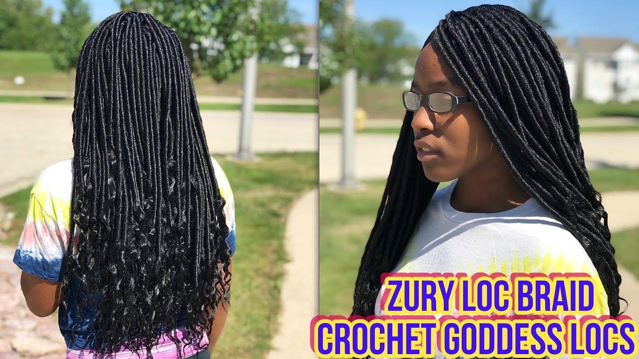 A Teenager S Crochet Goddess Locs Tutorial Zury Loc