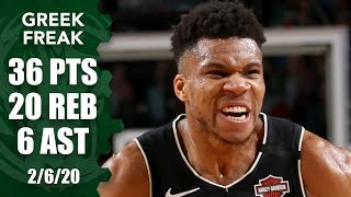 Giannis records 5th straight 30-point, 15-rebound game in Bucks vs. 76ers | 2019-20 NBA Highlights