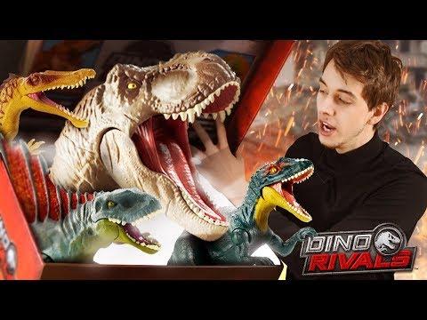 DINOSAUR RIVALS MYSTERY BOX!! - Jurassic World Fallen Kingdom Toys