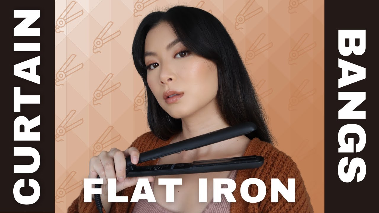 How To Style Curtain Bangs With A Flat Iron 2 Different Ways Youtube