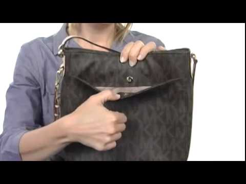6c6d525bb56e MICHAEL Michael Kors Jet Set Travel Large Messenger Brown Leather w ...