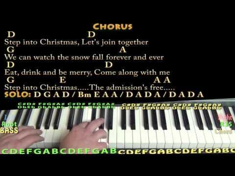 Step Into Christmas (Elton John) Piano Cover Lesson with Chords/Lyrics