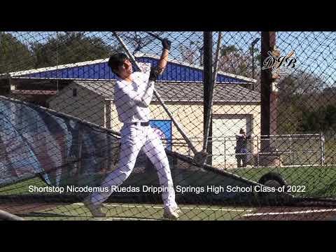 Shortstop Nicodemus Ruedas Dripping Springs High School Class of 2022