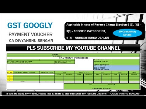 Gst Payment Voucher Format Reverse Charge Documentation All