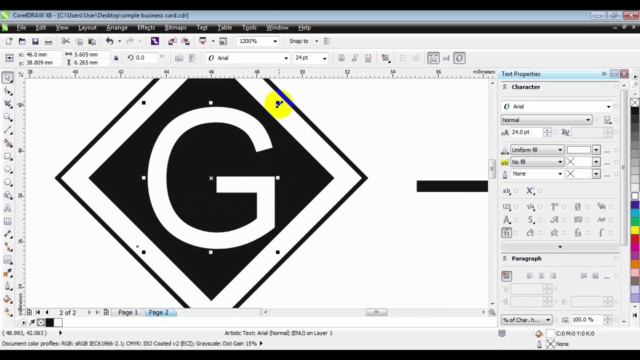 How to create simple business card in coreldraw youtube how to create simple business card in coreldraw reheart Choice Image