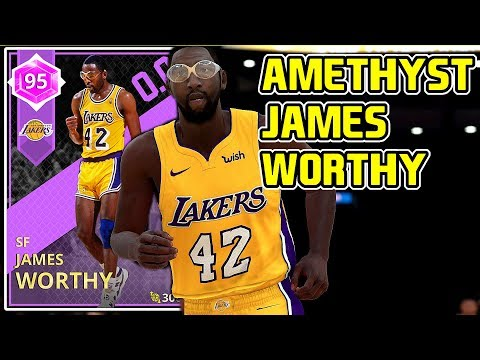 AMETHYST JAMES WORTHY 53PT GAMEPLAY! BEST ALL AROUND AMETHYST CARD! NBA 2k18 MYTEAM