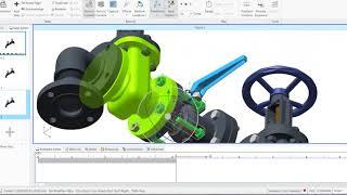 AR, Creo, Illustrieren, Animation Erstellen, Vuforia Studio, Thingworx Studio animation,