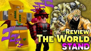 """Roblox l Review Stand """"THE WORLD"""" Của DIO *STOPPPPPPP TIMEE* !!! (Jojo Blox)"""