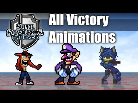 Super Smash Bros Crusade V0.9.1 - All Victory Animations & Themes