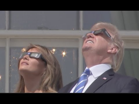 AMAZING: President Donald Trump Witnesses the Solar Eclipse From the White House