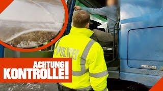 2m große Eisplatten fliegen vom LKW auf der Autobahn! Wie hoch ist die Strafe? | Achtung Kontrolle