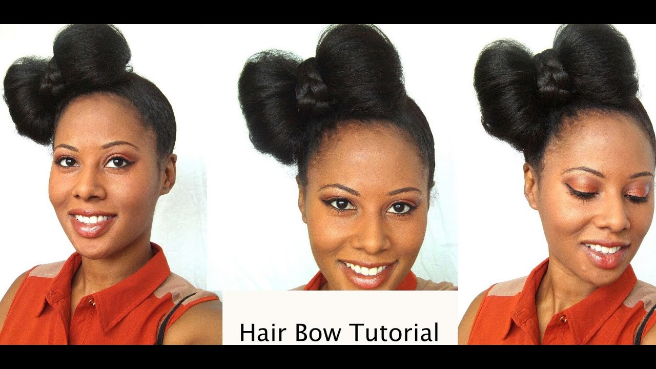 how to style hair bows easy hair bow tutorial protective styling 5268