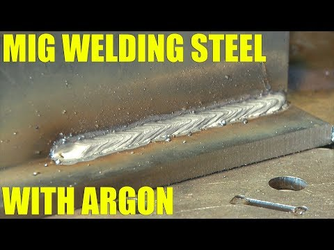 🔥 MIG Welding Steel with Pure Argon