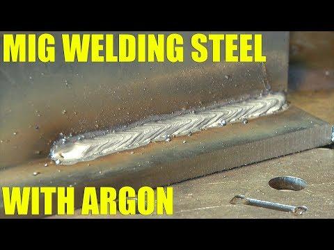 🔥 MIG Welding Steel with Pure Argon