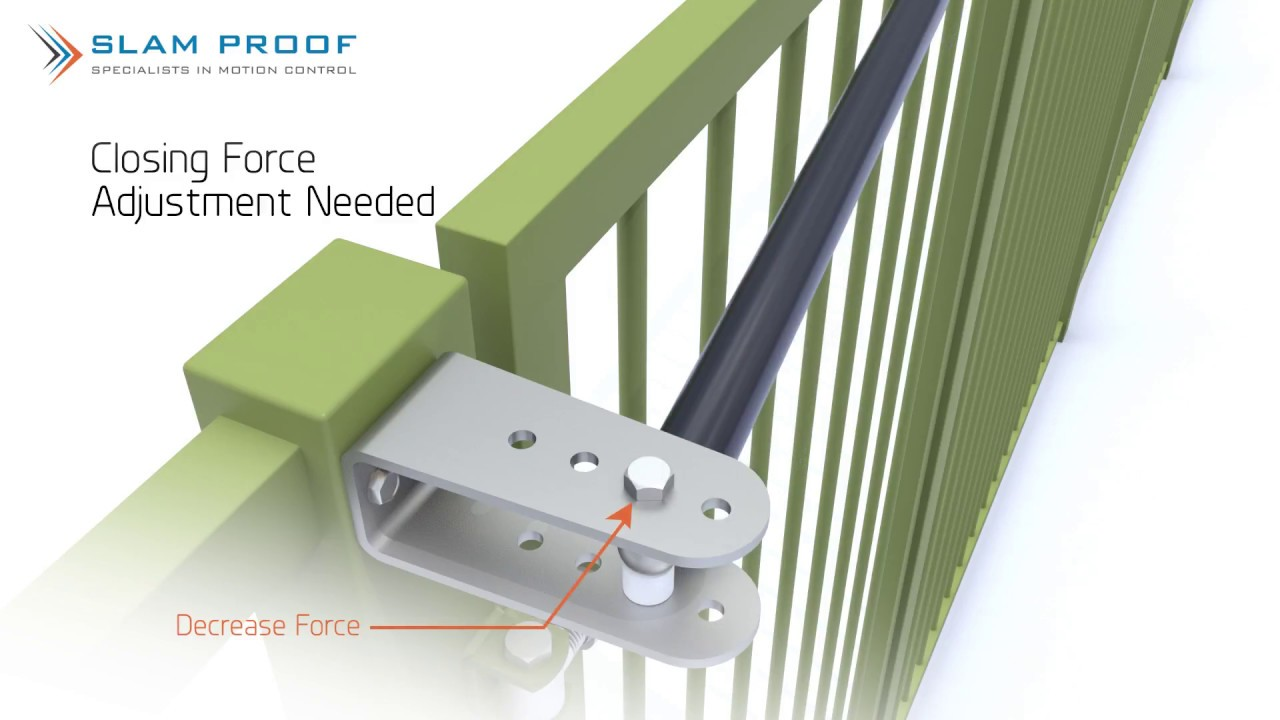 Secure Self Closing Slam Proof Standard Hydraulic /& Gas Pedestrian Gate Closer