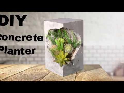 DIY Concrete Planter How To Make Concrete Planter Diy Concrete Craft