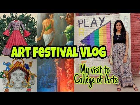 Visit to College of Arts | Art Festival | Delhi Vlog | Travel Vlogger