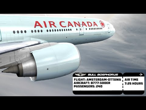 [FSX] LONG HAUL FLIGHT AMSTERDAM (EHAM) TO OTTAWA (CYOW) - AIR CANADA B777