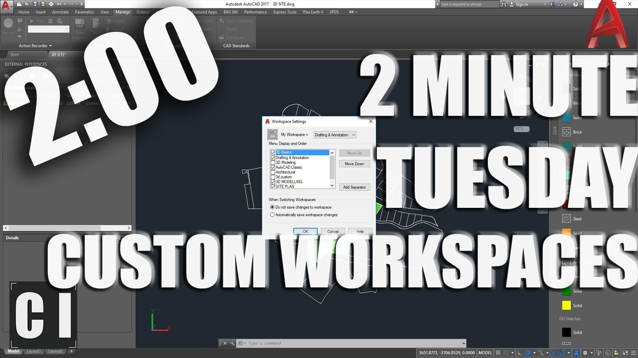 Save Time In Autocad With Custom Workspaces 2 Minute Tuesday