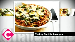 Turkey tortilla lasagna