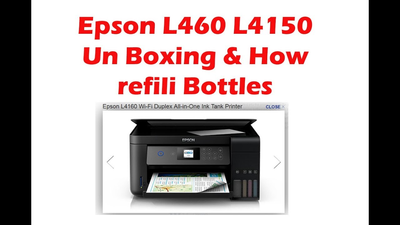 Unboxing Epson L4160 L4150 All in one Printer with Wifi and card reader &  How refill Ink Bottles