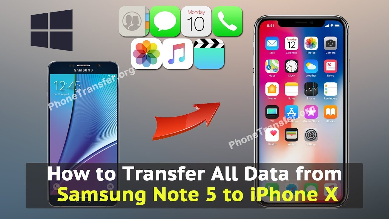 iphone to samsung transfer how to transfer all data from samsung note 5 to iphone x 15496