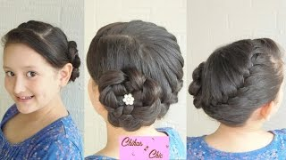 French Braided Crown with Flower | Braided Flower | Braided Hairstyles | Updo