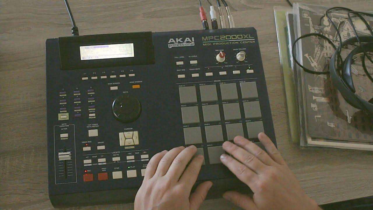 Akai Mpc 2000XL Making a sampled Beat