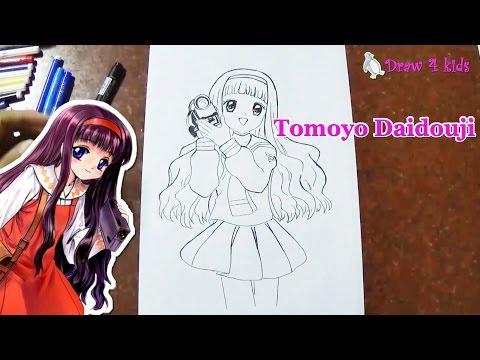 How To Draw Tomoyo Daidouji From Cardcaptor | D4K